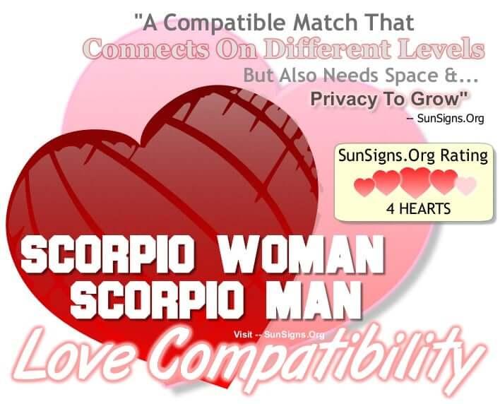 scorpio woman scorpio man