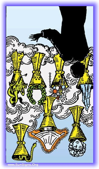 seven of cups reversed