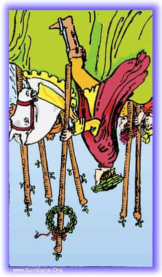 six of wands reversed