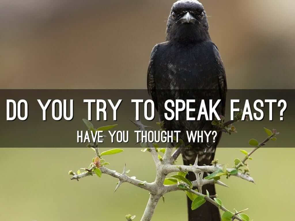 bipolar people will talk fast