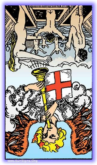 The ugly side of conviction, the loss of the ability to see the world through any lens but our own is shown by the tarot meditation on the reversed Judgement card.