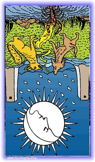 The tarot meditation on the reversed moon card shows that others will sometimes lead us astray for their own ends