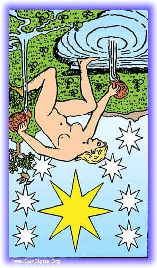 Star reversed tarot meditation is the loss of hope, stagnation, and being unable to see a way out of the trials in which you find yourself.