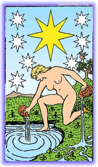 Allow feelings of hope, health, and recovery to form about you as you drift into the tarot meditation on the Star.