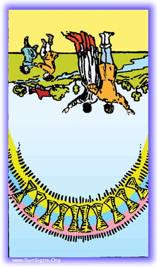 ten of cups reversed