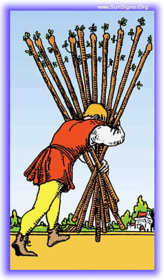 ten of wands upright