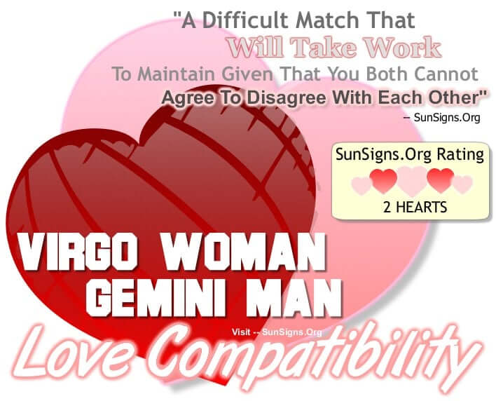 Dating virgo man gemini woman up