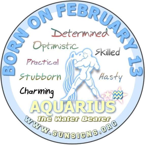 13 february birthday aquarius