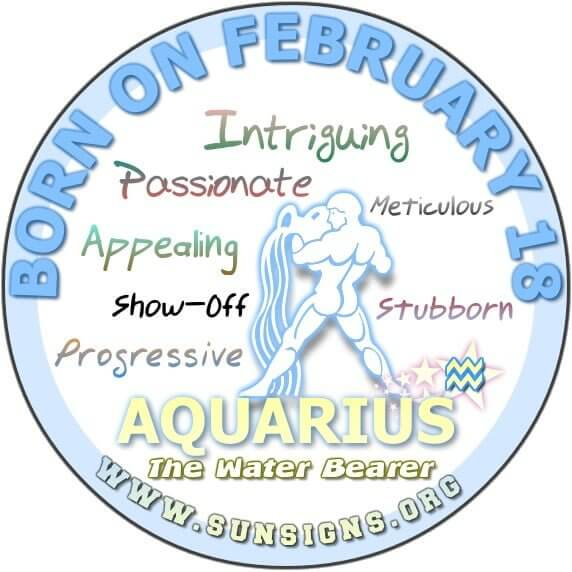 18 february birthday aquarius