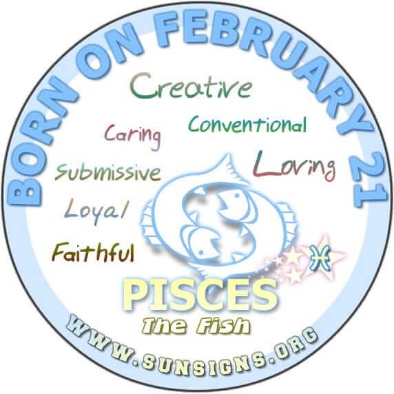 21 february birthday pisces