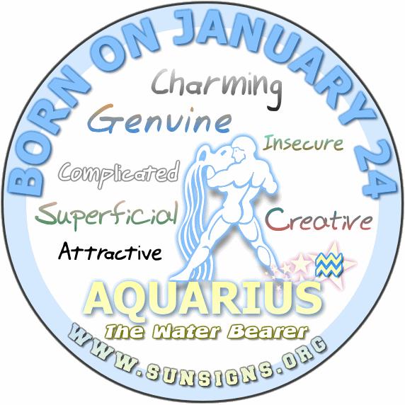 24 january birthday aquarius