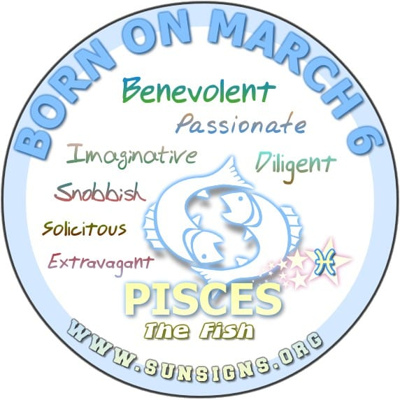 6 march birthday pisces