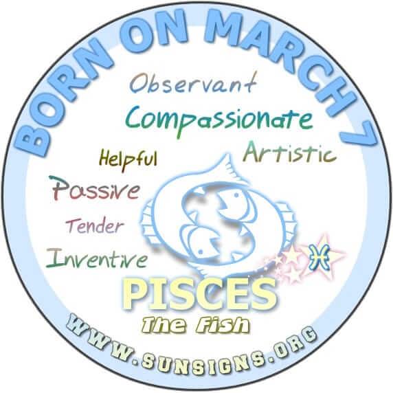 7 march birthday pisces