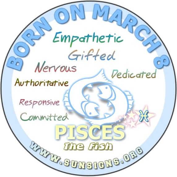 8 march birthday pisces