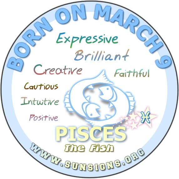 9 march birthday pisces
