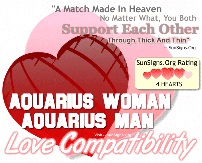 Aquarius Woman Aquarius Man Love Compatibility