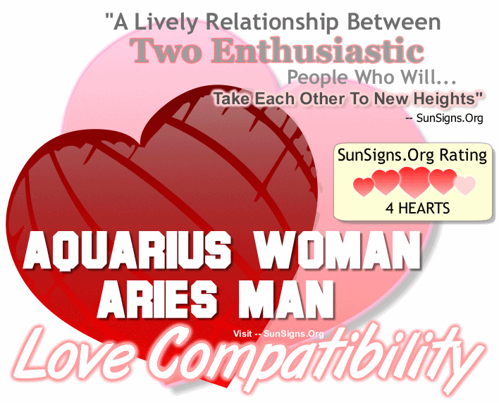 Aquarius Woman Aries Man Love Compatibility