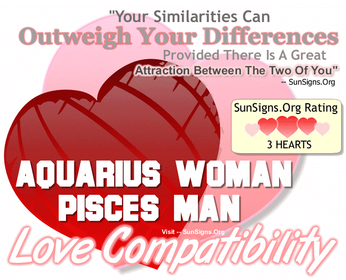 Aquarius Woman Pisces Man Love Compatibility