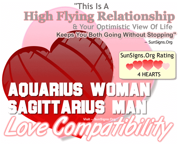 Aquarius Woman Sagittarius Man Love Compatibility