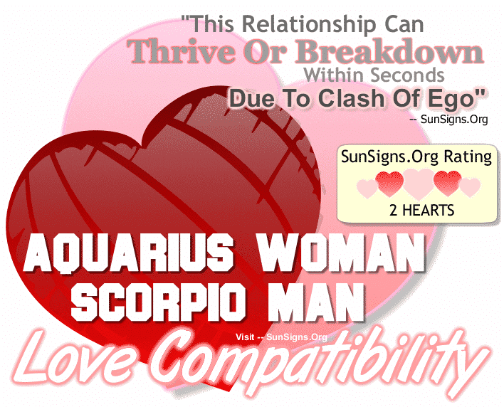 Aquarius Woman Scorpio Man Love Compatibility
