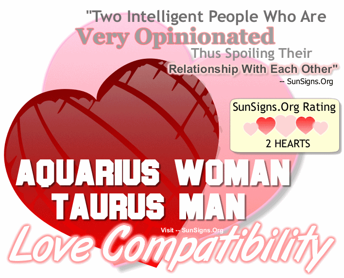 Aquarius Woman Taurus Man Love Compatibility