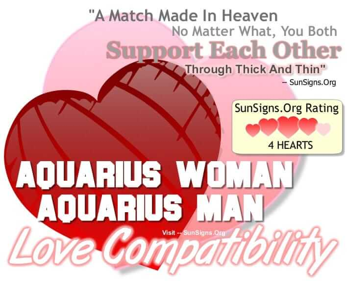 Aquarius female dating aquarius male
