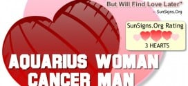 aquarius woman cancer man