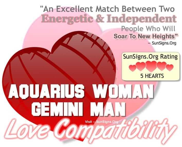 aquarius woman gemini man