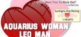 aquarius woman leo man