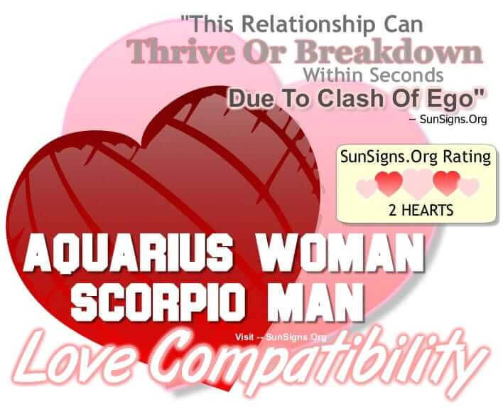 aquarius woman scorpio man