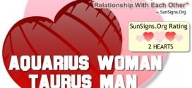 aquarius woman taurus man