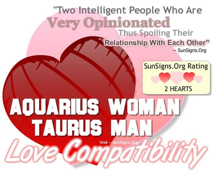 Taurus man dating aquarius woman