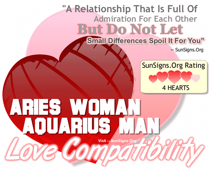 Aries Woman Aquarius Man Love Compatibility