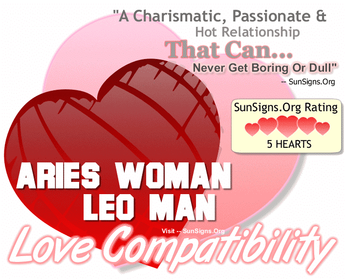 Aries Woman Leo Man Love Compatibility