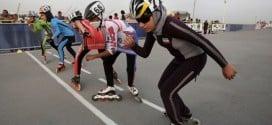 aries rollerblading