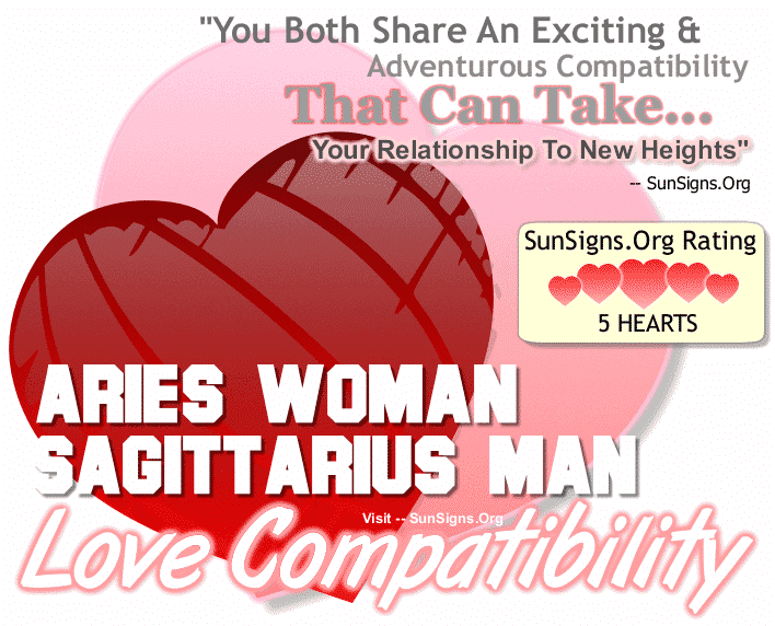 Aries Woman Sagittarius Man Love Compatibility
