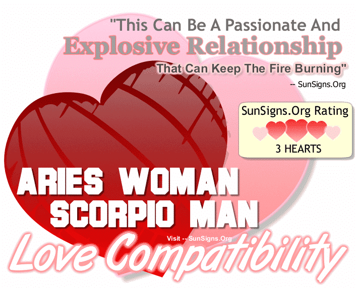 Aries Woman Scorpio Man Love Compatibility