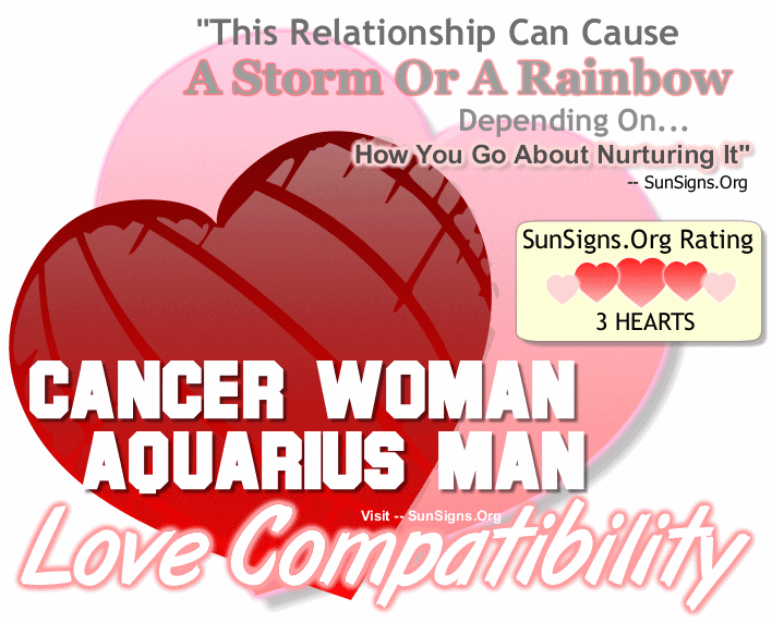 Cancer Woman Aquarius Man Love Compatibility
