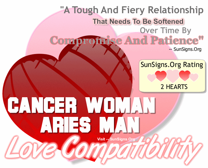 Cancer Woman Aries Man Love Compatibility