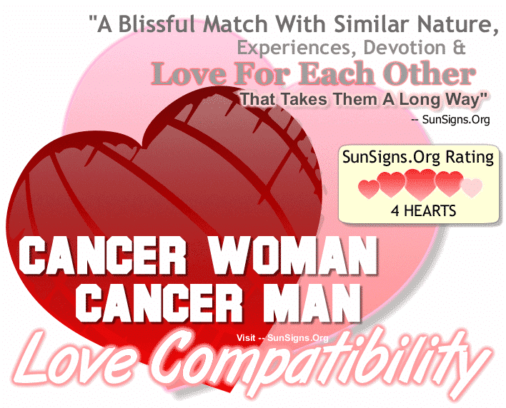 Cancer Woman Cancer Man Love Compatibility