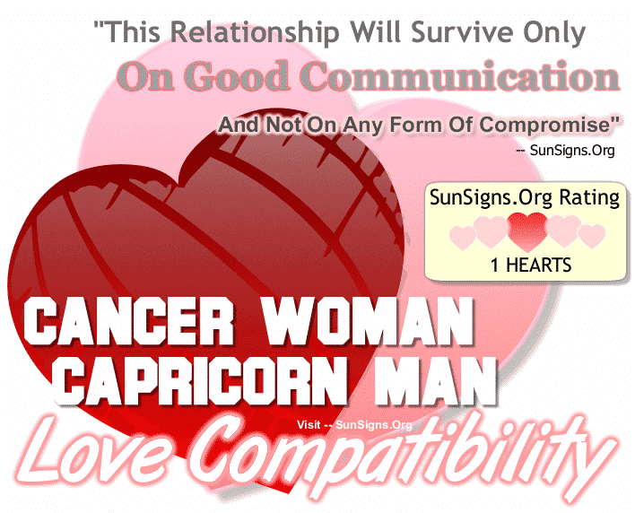 love match for capricorn and cancer Want to know the love compatibility factor between capricorn man and cancer woman read how your relationship goes with your beloved.