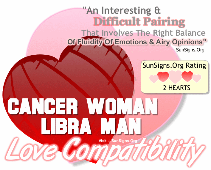 Cancer Woman Libra Man Love Compatibility