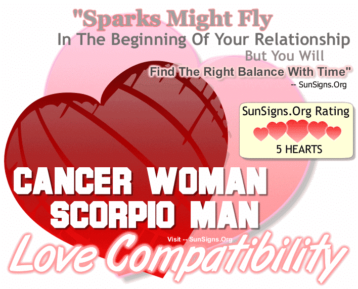 Cancer Woman Scorpio Man Love Compatibility