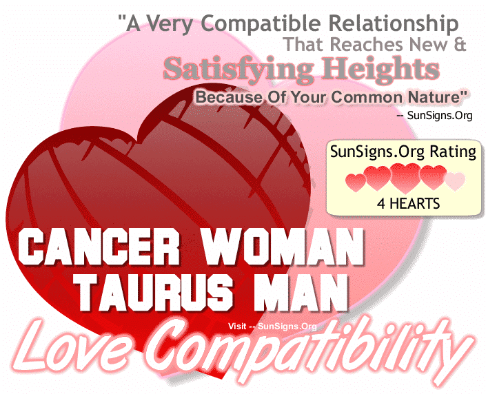 Cancer Woman Taurus Man Love Compatibility