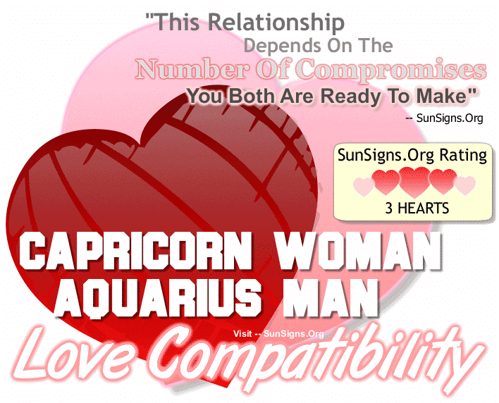 Capricorn Woman Aquarius Man Love Compatibility