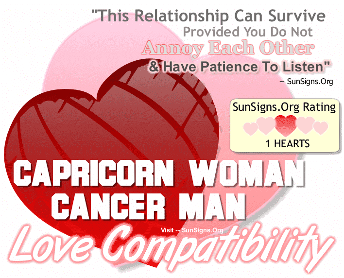 Capricorn Woman Cancer Man Love Compatibility