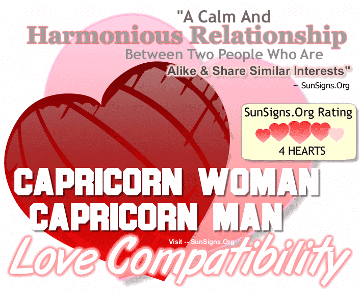 Capricorn Woman Capricorn Man Love Compatibility