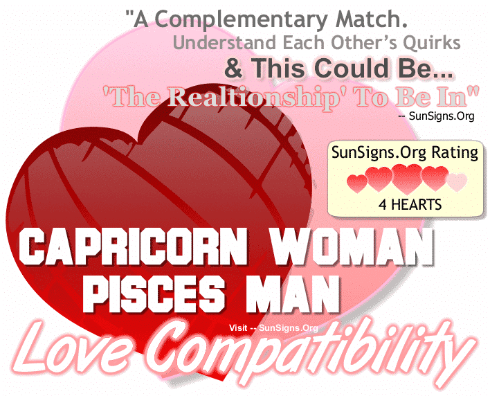 Capricorn Woman Pisces Man Love Compatibility