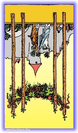 four of wands reversed
