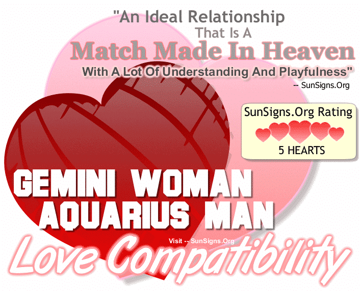 Gemini Woman Aquarius Man Love Compatibility